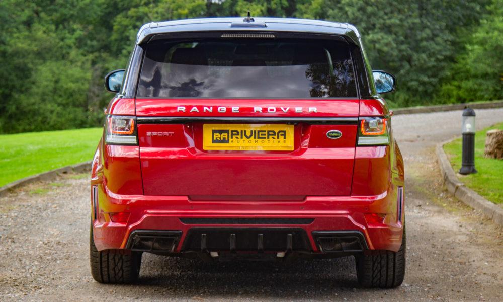 Range Rover Sport Red Rear2