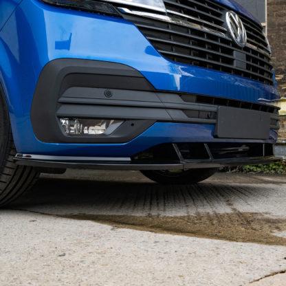 Volkswagen Transporter T6-1 Gloss Black Front Splitter - 3 piece
